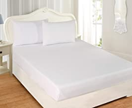 100% COTTON KRP HOME Ultra-Soft Cotton Breathable - Easy to Wash (120X200 cms) 144 Thread Count Home Essential Fitted Shee...