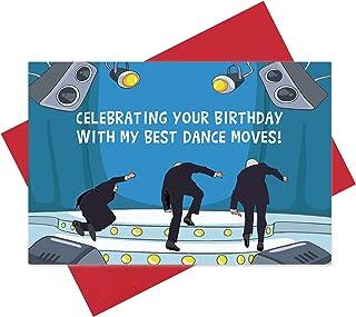 Funny Joe Biden Falling Card, Special Birthday Celebrating Card, With Biden's Humorous Dance Moves