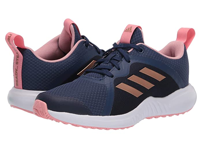 adidas Kids  FortaRun X (Little Kid/Big Kid) (Tech Indigo/Copper Metallic/Glory Pink) Girls Shoes
