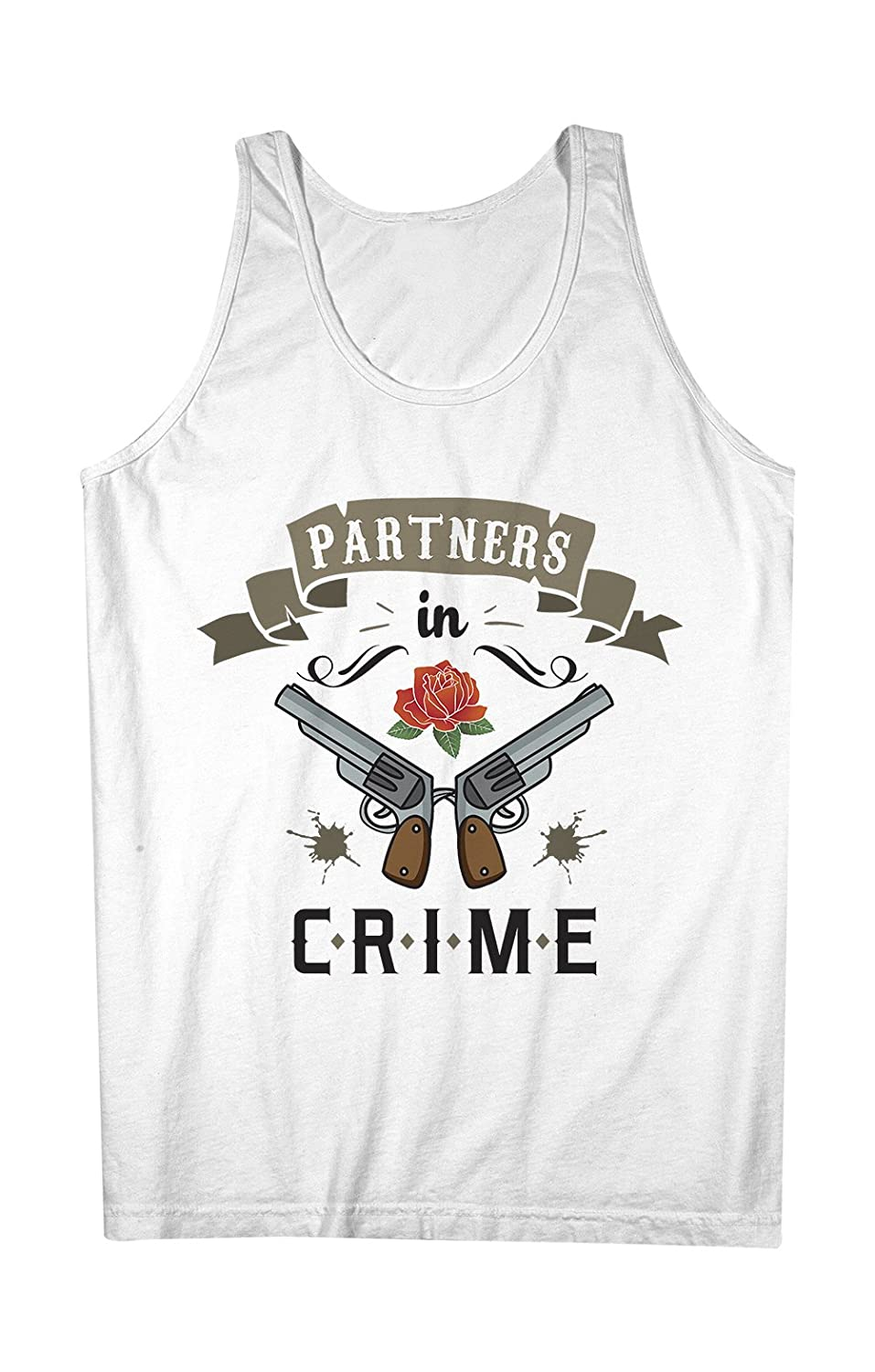 Partners In Crime Pistols Rose Best Friends 男性用 Tank Top Sleeveless Shirt