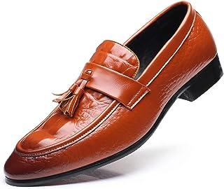 WEIFAN Scarpe Casual in Pelle da Uomo Mocassini classici da Lavoro britannici Oxford Comodi Mocassini da passeggio traspir...