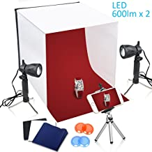TFJ Photography Light Tent 40x40cm Mesa de sobremesa portátil Photo Studio Carpa Light Box Iluminación continua LED Photo Shooting Tent Box Kit