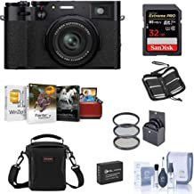 $1399 » Fujifilm X100V Digital Camera, Black - Bubdle with Camera Case, 32GB SDHC Card, Spare Battery, 49MM Filter Kit, Cleaning K...