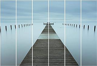 Bilderwelten Panel japonés Cortinas Riel Pier In Sweden Set Montaje para Techo, 250 x 360cm