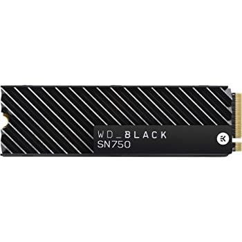 WD_Black SN750 1TB NVMe Internal Gaming SSD with Heatsink - Gen3 PCIe, M.2 2280, 3D NAND - WDS100T3XHC
