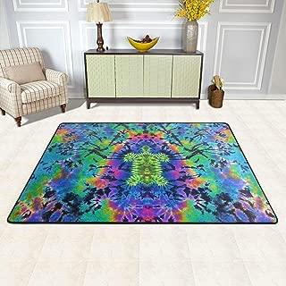 KAIDI-2 Tie Dye Turtle Doormat Decor Floor Rugs Area Rug Living Room Bedroom Carpet 72