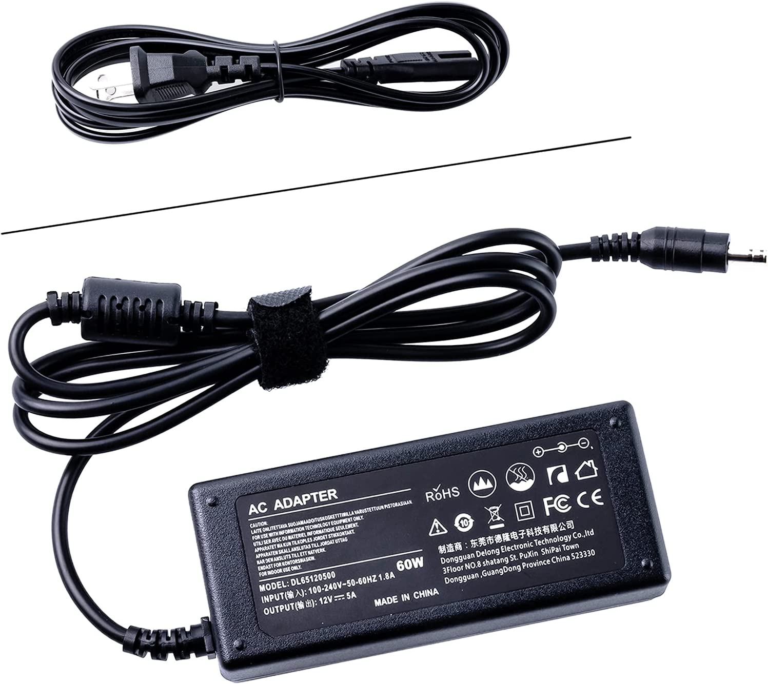 12V AC Adapter Charger for Dell 22'' 23'' 24'' Screen, S2316H S2316M S2318HN S2340L S2340M S2440L S2740L S2240L S2240T S2240M S2216H S2216M S2340Mc LED LCD Monitor Screen Adaptor Power Supply Cord
