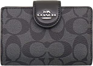 [コーチ] COACH 財布(二つ折り財布) FC0082 C0082 シグネチャー PVC レザー ミディアム コーナー ジップ ウォレット レディース [アウトレット品] [ブランド] [並行輸入品]