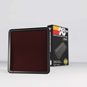 K&N Engine Air Filter: High Performance, Premium, Washable, Replacement Filter: Fits 2007-2019 Toyota/Lexus V8 Truck and SUV (Land Cruiser, Tundra, Sequoia, LX 570), 33-2387