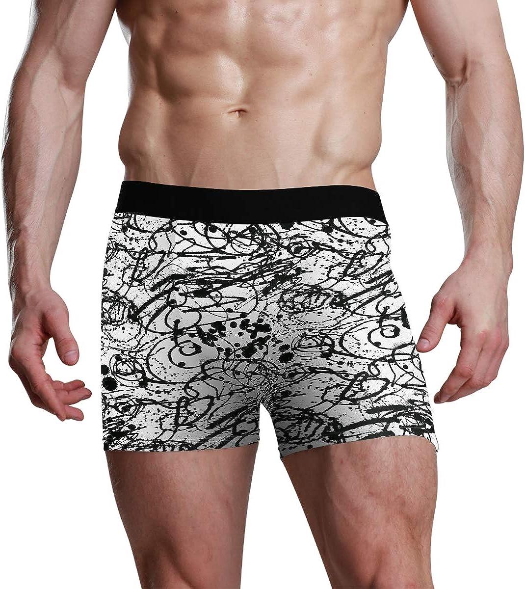 Mens Boxer Briefs Underwear Splattered with Dots Seamless Wallpaper Pattern Trunks Underwear Short Leg Boys