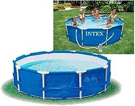 Intex Metal Frame Pool - Aufstellpool - Durchmesser 366 x 76 cm - Mit Filteranlage - 12V