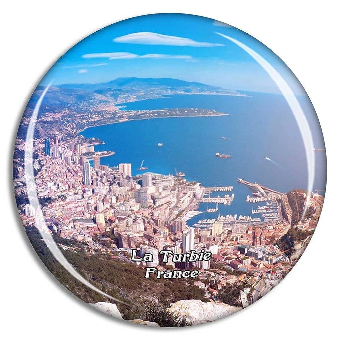 三十驚かす考えたフランス La Turbie冷蔵庫マグネット3Dクリスタルガラス観光都市旅行お土産コレクションギフト強い冷蔵庫ステッカー