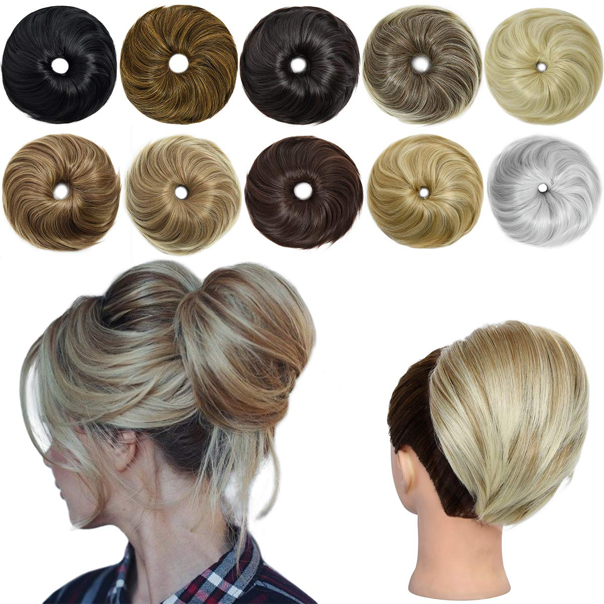 EMERLILY Messy Bun Scrunchie Hair All items in the store for Women Synthetic wholesale Str Pieces