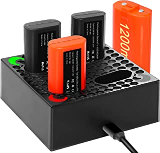 Xbox One Controller Battery Pack - with Battery Charger & 4x1200mAh Rechargeable Batteries, 2000 Charge Cycle for Xbox On...