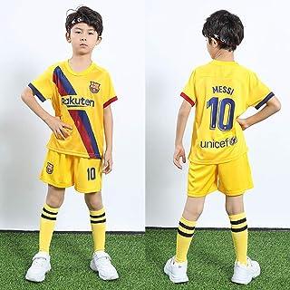 Fashion Boy's Kids Football,Soccer Kit Sportswear,T-Shirt Shorts Socks,Yellow10-20yards(115-125cm)