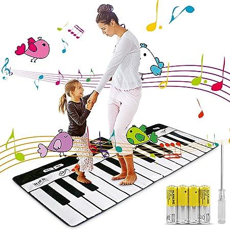 Alfombra de Piano Super, Alfombra de Teclado para Bebé, Alfombra Gimnasio para Musical, Estera de Baile Táctil Musical Juguetes para Niños(180cm*74cm)