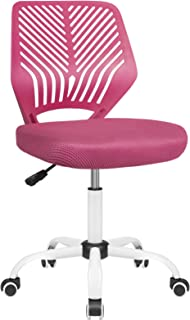 BOSSIN Kids Desk Office Chair for Teens Computer Mesh Chair with Low-Back Armless Adjustable Swivel Ergonomic Home Office ...