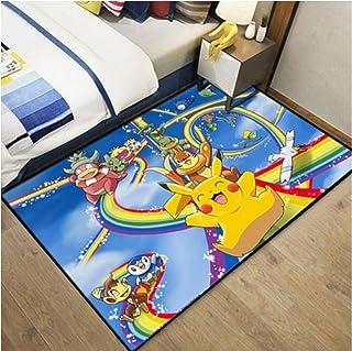 xuejing Tapis Pokemon Pokémon Dessin Animé Anime Chambre Pokemon Pikachu Chambre Tapis De Chevet Rectangulaire Décoration ...