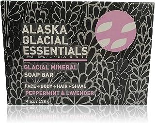 Alaska Glacial Mud Glacial Mineral Soap Bar Peppermint & Lavender Exfoliates Dead Skin Cells, Detoxifies Pores, Softens Sk...