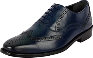 Liberty Brogue Dress Shoes for Men Wingtip/Cap Toe Genuine Leather Lace Up Formal Business Shoes