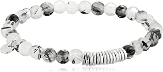 Tateossian Men's Discs Round Beaded Bracelet