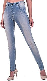 Calça Jeans Bloom Super Skinny Romantic Delavê com Sujinho
