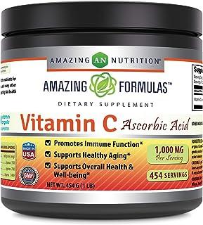 Sponsored Ad - Amazing Nutrition Amazing Formulas Vitamin C Ascorbic Acid Dietary Supplement - 1 Lb. Powder (Approx. 454 S...