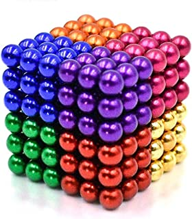 Magnetic Balls 5MM 216 Pieces Magnets Sculpture Building Blocks Toys for Intelligence Learning Development and Creative Educational Toy, Office Desk Toy & Stress Relief for Adults(8 Color)