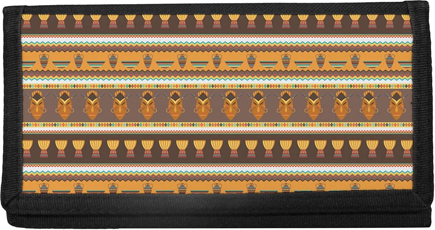 African Masks Canvas New products world's highest quality popular Checkbook Cover Oklahoma City Mall