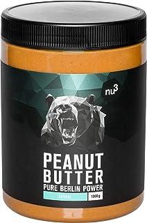 comprar comparacion nu3 Crema de cacahuete - 1 kg Peanut Butter pura y natural - Mantequilla de maní sin sal ni azúcar - Libre de aceite de pa...