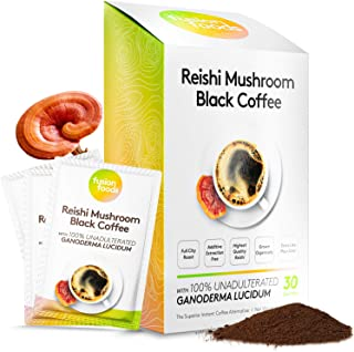 Sponsored Ad - fushion foods ™ Mushroom Coffee – Real Instant Black Coffee, Zero Jitters - Boost Brain Power 100% Naturall...