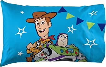 Jay Franco Disney Pixar Toy Story You've Got A Friend in Me 1 Pack Pillowcase - Double-Sided Kids Super Soft Bedding Features Woody and Buzz Lightyear (Official Disney Pixar Product)