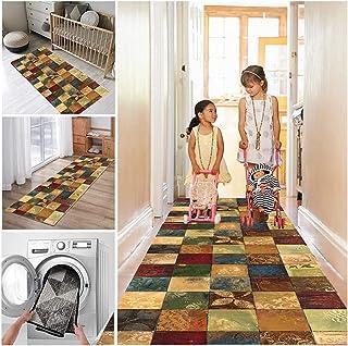 Modern Geometric Trellis Pattern Very Long Hallway Hall Runner Narrow Rugs Corridor Rubber Backed Washable Color Stair Car...