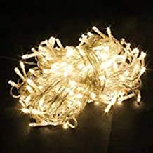 Christmas Bright Yellow Light Xmas Tree Lamps 10 Meters Party Room Decor out Door Decoration LED String Fairy Lights 100 LED lights