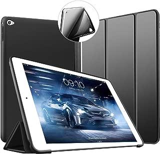 Funda VAGHVEO para iPad Air 2, soporte Smart Cover de silicona ligero [Auto-Sueño/Estela], Carcasa trasera de TPU suave para iPad Air 2 de 9,7 pulgadas (Modelo: A1566, A1567), Negro