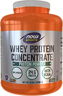 Now Foods Whey Protein Concentrate, Unflavored, 5 lbs (2268 g)