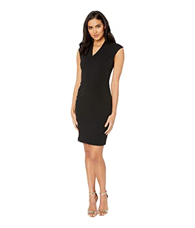Ted Baker Geodese Narnia Wrap Front Pencil Dress (Black) Women