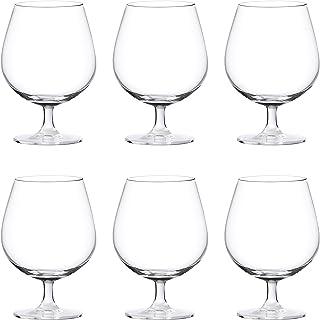 Ocean Madison Cognac Wine Glass, Pack of 6, Clear, 650 ml, 015N22