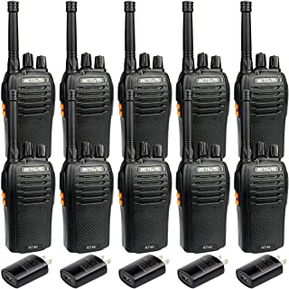 Retevis RT46 Walkie Talkies for Adults Dual Power FRS SOS Emergency Alarm Rechargeable Two Way Radio Battery and Charger Included (10 Pack)