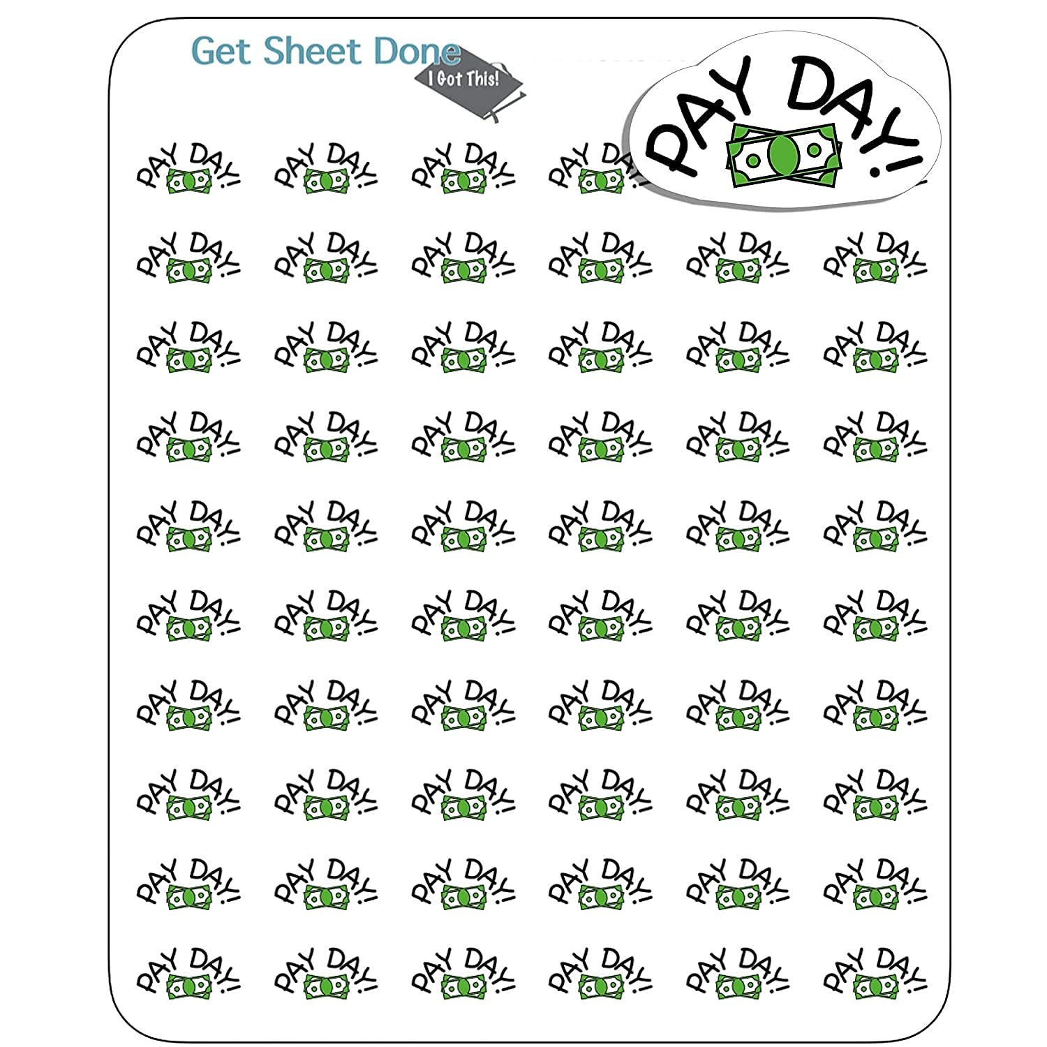 MINI PAYDAY PLANNER STICKERS Max 55% OFF Reminder Hobonichi Bullet Budget 1 year warranty Jo