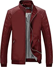 Tanming Men's Casual Slim Fit Lightweight Zip Up Softshell Bomber Jacket
