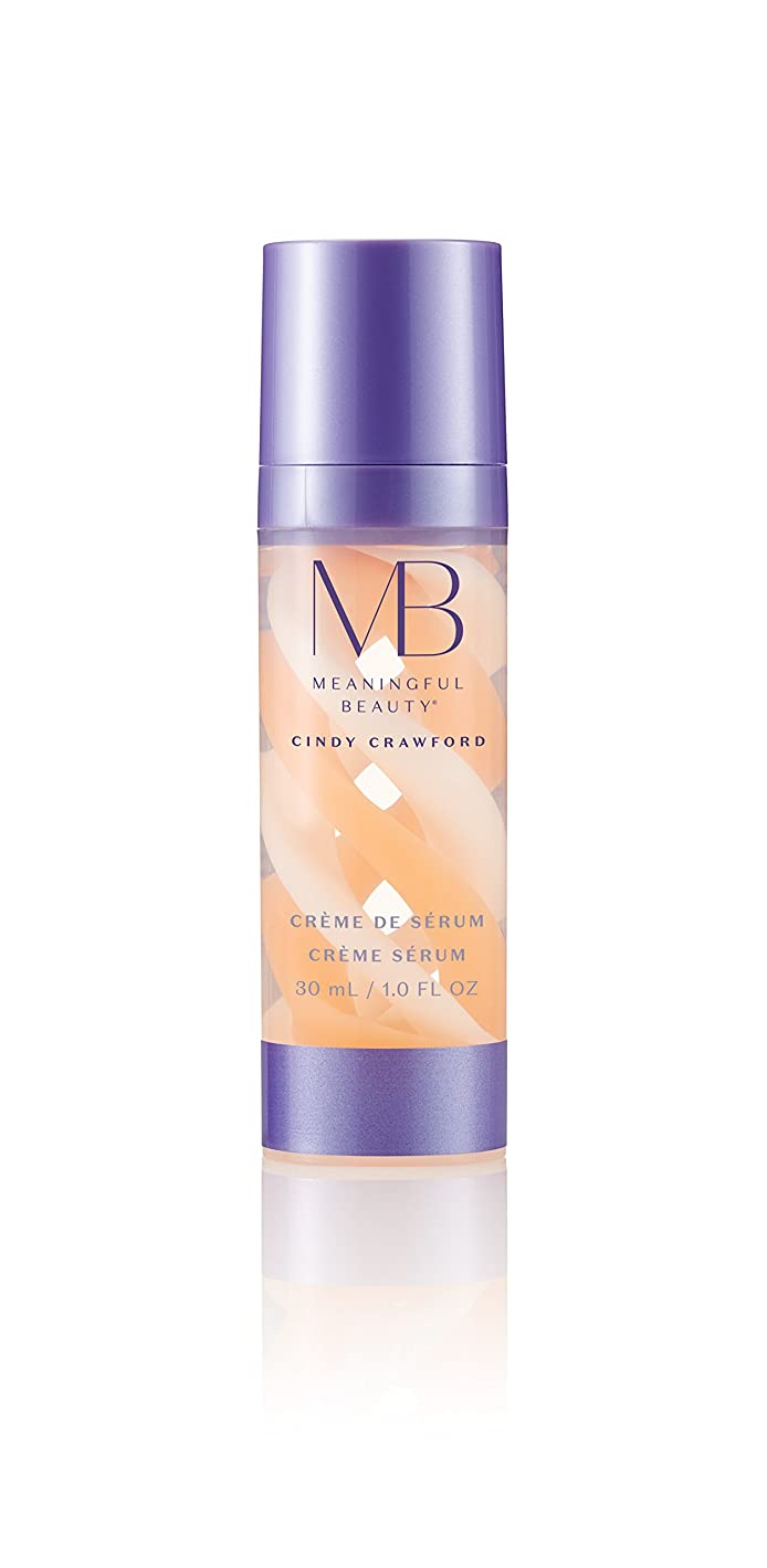 ルビーカリキュラム農夫Meaningful Beauty Crème de Serum, Night Moisturizer with Melon Extract, Peptides, and Hyaluronic Acidナイトモイスチャライザー