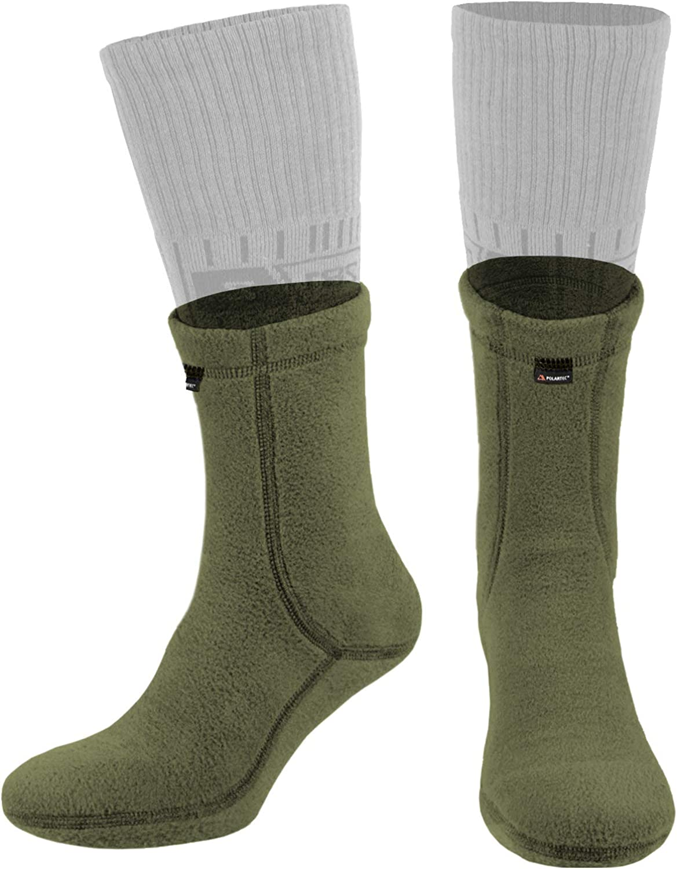 281Z Military Warm 6 inch Liners Boot Socks - Outdoor Tactical Hiking Sport - Polartec Fleece Winter Socks (Green Khaki): Clothing, Shoes & Jewelry