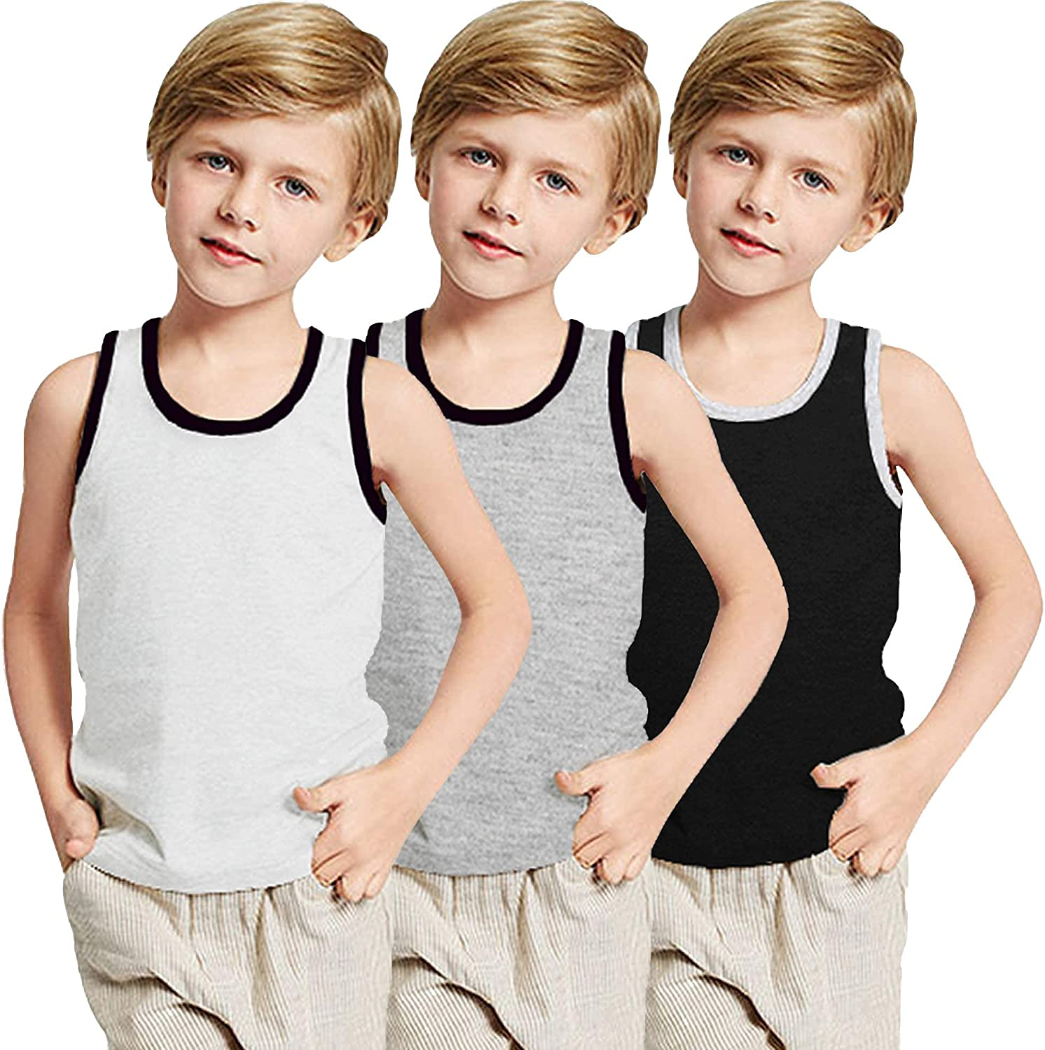 Boyoo Big Boys Complete Free Shipping Youth 3 Pack Cotton Sleeveless Y-Back Tank Tops T outlet