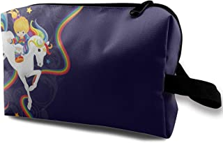 With Wristlet Cosmetic Bags Rainbow Brite And Starlite Memories Travel Portable Makeup Bag Zipper Wallet Hangbag