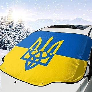 Mini bufanda para coche con dise/ño de bandera de Ucrania TRUCK DUCK