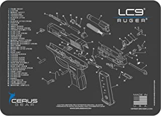 EDOG Ruger LC9 Cerus Gear Schematic (Exploded View) Heavy Duty Pistol Cleaning 12x17 Padded Gun-Work Surface Protector Mat Solvent & Oil Resistant