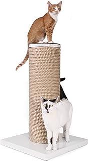 Primetime Petz Hauspanther Maxscratch - Oversized Jute Cat Scratcher & Perch, White
