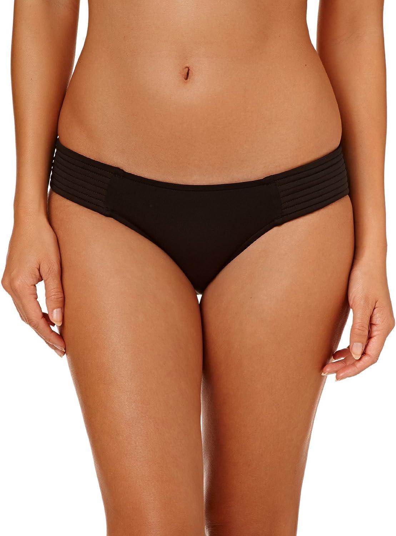 贈答品 Seafolly Women's Standard ハイクオリティ Quilted Bikini Swimsuit Bottom Hipster