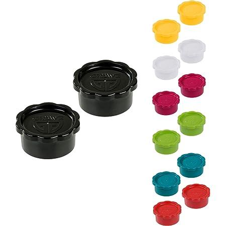 Gräwe Lot de 2 bouchons de rechange noirs pour carafe en verre Sodastream modèle Penguin (bouchon pas de type champagne) + Crystal